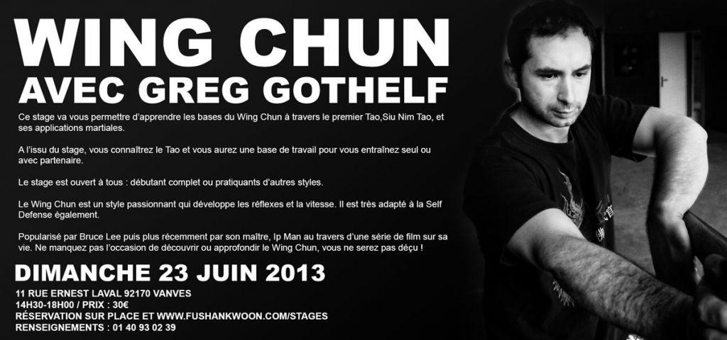 Wing Chun Kung Fu : Stage à Fushan Kwoon – 23/06/13