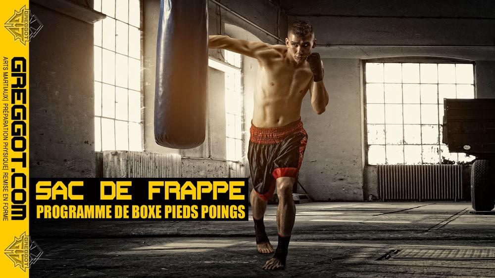 Sac de frappe : programme BOXE PIEDS POINGS